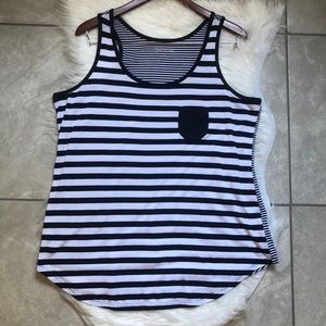 Maurices stripe tank with pocket. Size 1X
